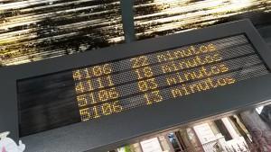 Painel eletrônico de ponto de ônibus