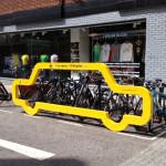 Estacionamento criativo para bicicletas